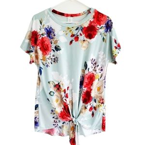 New Its A Girl Thing Floral Tie Top